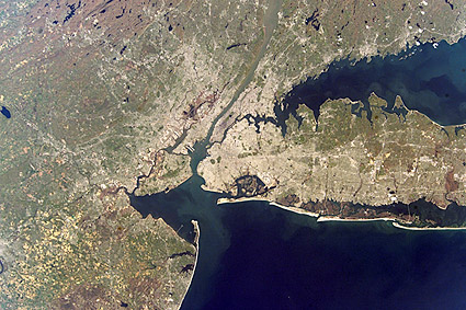 Long Island New York & New Jersey Satellite Photo Print