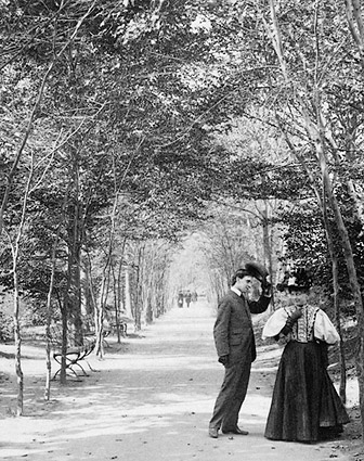 Lovers Lane Central Park New York City 1896 Photo Print