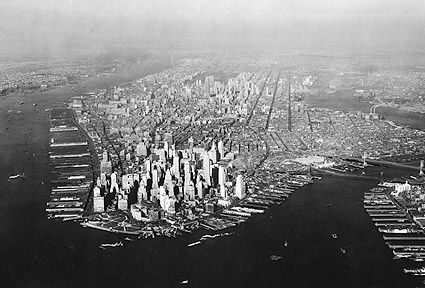 Lower Manhattan, New York City Aerial 1937 Photo Print