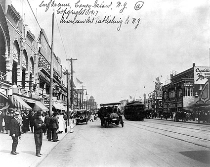 Luna Park and Surf Avenue 1917 Coney Island Photo Print
