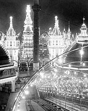 Luna Park at Night, Coney Island NY 1904 Photo Print for Sale