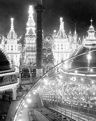 Luna Park at Night, Coney Island NY 1904 Photo Print