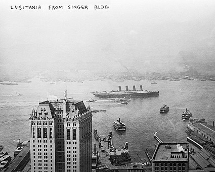 Lusitania Ship in Hudson River NYC 1908 Photo Print