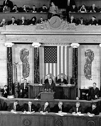 Lyndon Johnson 1964 State of the Union Photo Print