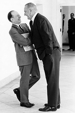 Lyndon Johnson & Abe Fortas Laughing Photo Print