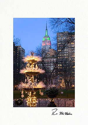 Madison Square Park and Empire State Building Boxed Christmas Cards