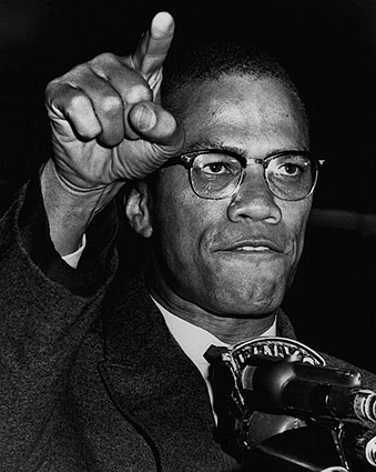 Malcolm X Gesturing During Harlem Rally 1963 Photo Print