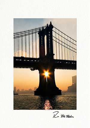 Manhattan Bridge Rising Star New York City Boxed Holiday Cards
