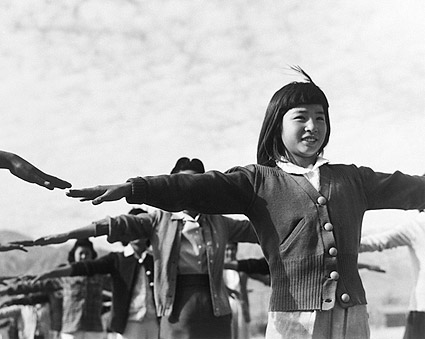 Manzanar Camp Calisthenics Ansel Adams Photo Print