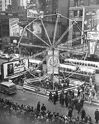 March of Dimes Ferris Wheel Times Square Photo Print