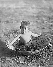 Maricopa Indian Child Edward S. Curtis 1907 Photo Print for Sale