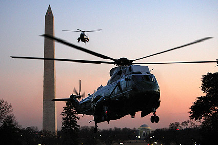 Marine One Helicopter Carrying President Obama Photo Print