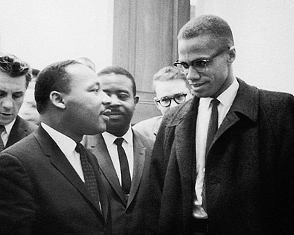 Martin Luther King Jr. & Malcolm X 1964 Photo Print