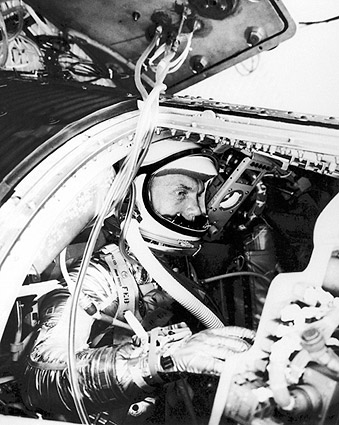 Mercury Astronaut John Glenn Training NASA Photo Print