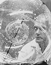 Mercury John Glenn w/ Celestial Globe Photo Print for Sale