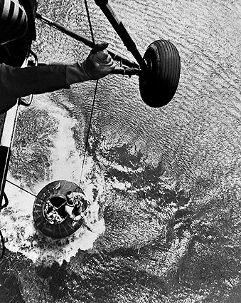 Mercury Recovery Helicopter with Astronaut Alan Shepard Photo Print