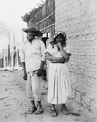Mexican Couple Standing Portrait in Mexico Photo Print