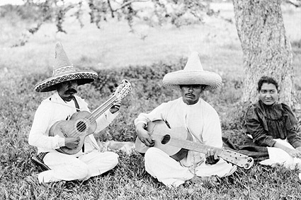 Mexican Guitar Picnic Mexico Early 1900s Photo Print