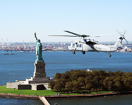 MH-60S Knighthawk & Statue of Liberty Photo Print