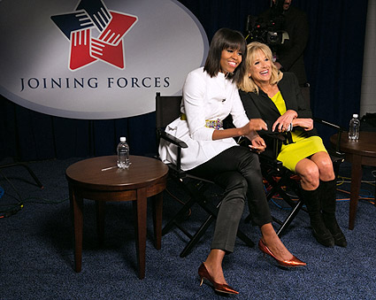Michelle Obama & Dr. Jill Biden at Kids Inaugural Concert Photo Print