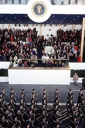 Military March at Clinton Inaugural Parade 1997 Photo Print