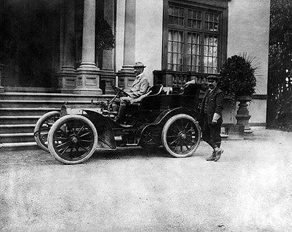Millionaire John Jacob Astor IV in Automobile Photo Print