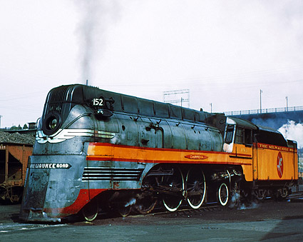 Milwaukee Road #152 Locomotive Railroad Photo Print
