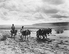 Moki Indian Men on Road Edward S. Curtis Photo Print for Sale