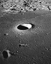 Moltke & Rima Hypatia Craters on Moon Apollo 10 Photo Print for Sale