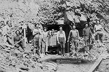 Montana Mine Old West 1889 Gold Miners Photo Print for Sale