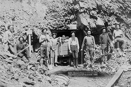 Montana Mine Old West 1889 Gold Miners Photo Print