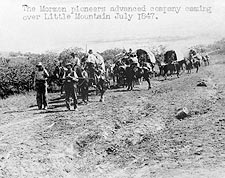 Mormon Pioneers Wagon Train to Utah Photo Print for Sale