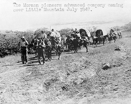 Mormon Pioneers Wagon Train to Utah Photo Print