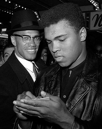 Muhammad Ali & Malcolm X 1965 Photo Print