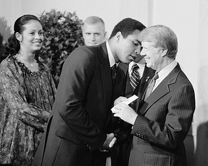 Muhammad Ali & President Jimmy Carter Photo Print