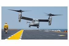MV-22 Osprey Lands on USS Nassau  Photo Print