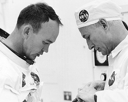 NASA Apollo 11 Astronaut Michael Collins Suiting Up  Photo Print