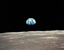 NASA Apollo 11 Earthrise Over Mare Smythii Photo Print for Sale