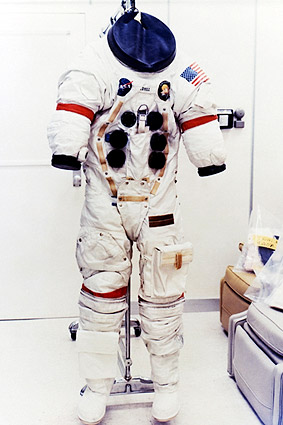 NASA Apollo 13 Jim Lovell Space Suit Photo Print