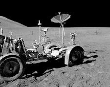 NASA Apollo 15 Lunar Rover on Moon Photo Print for Sale