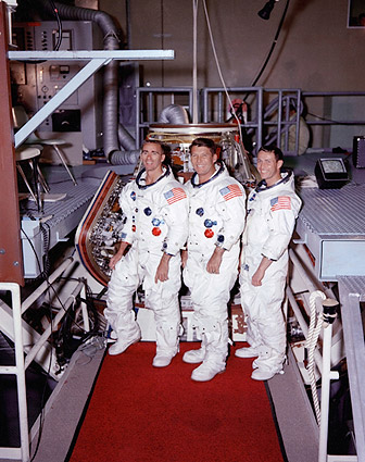 NASA Apollo 7 Flight Crew Group Portrait  Photo Print