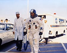 NASA Apollo 7 Flight Crew to Launch Pad Photo Print for Sale