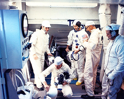 NASA Apollo 9 Astronaut Flight Crew Suit Up Photo Print ...
