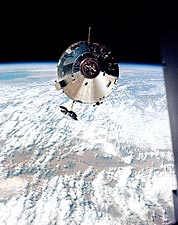 NASA Apollo 9 Command Module in Earth Orbit Photo Print for Sale