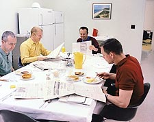 NASA Apollo 9 Flight Crew Breakfast Photo Print for Sale