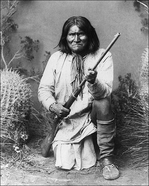 Native american indian geronimo portrait photo print
