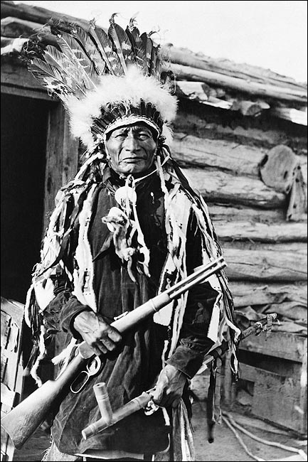 Native american indian w peace pipe 1912 photo print for sale