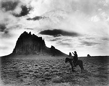 Navajo Indian on Horse, Shiprock New Mexico Photo Print for Sale