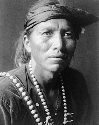 Navajo Indian White Singer Edward S. Curtis Photo Print