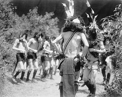 Navajo Men Yebichai Ritual Edward S. Curtis Photo Print